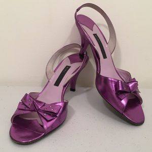 Marc Jacob Metallic Purple Rainbow Crystals Sandal